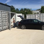 Container maritime pour le stockage