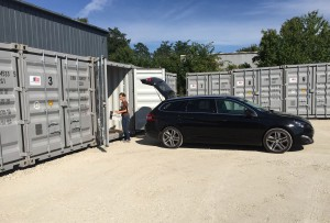 box de stockage en container maritime